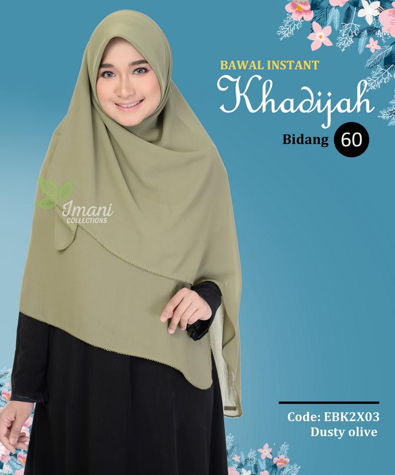 EBK2X03 - Bawal Instant Khadijah XXL