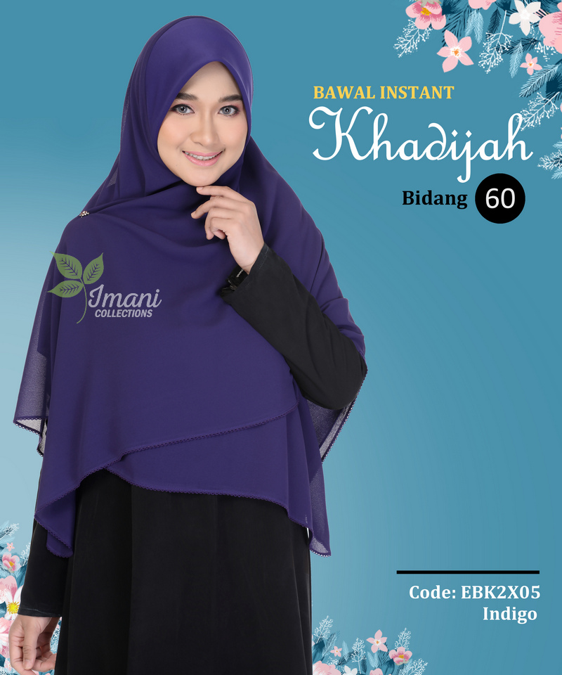 EBK2X05 - Bawal Instant Khadijah XXL