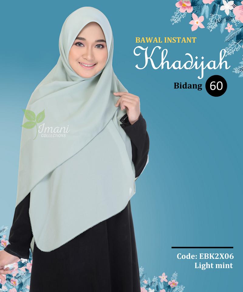 EBK2X06 - Bawal Instant Khadijah XXL