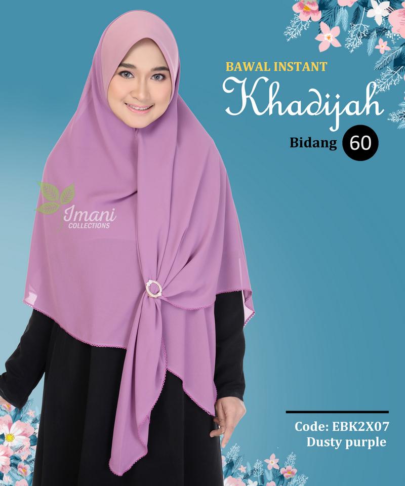 EBK2X07 - Bawal Instant Khadijah XXL