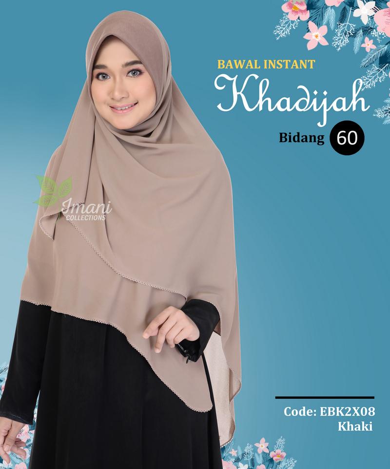 EBK2X08 - Bawal Instant Khadijah XXL
