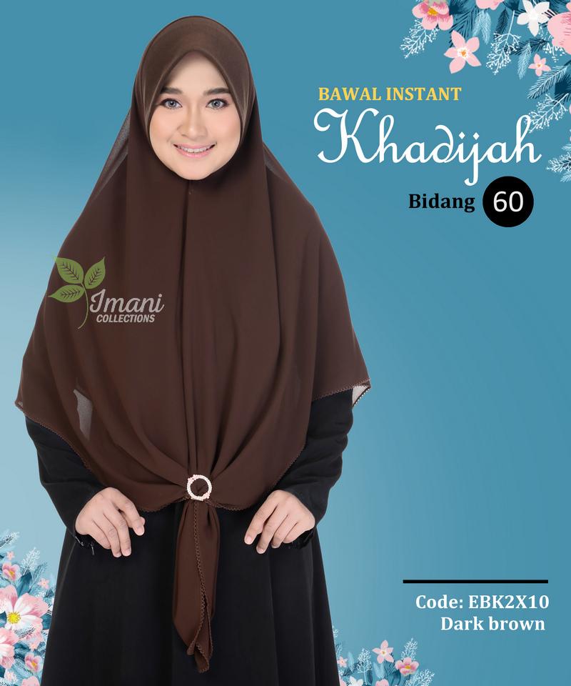 EBK2X10 - Bawal Instant Khadijah XXL