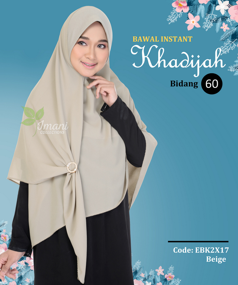 EBK2X17 - Bawal Instant Khadijah XXL