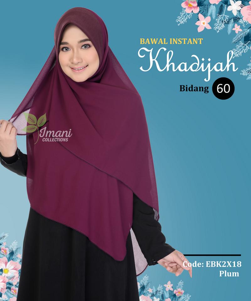 EBK2X18 - Bawal Instant Khadijah XXL