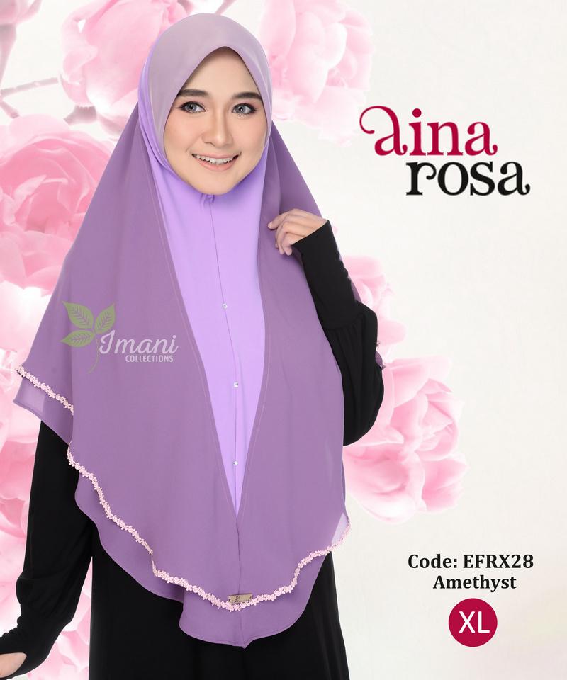 EFRX28R - Tudung Aina Rosa XL (REJECT)