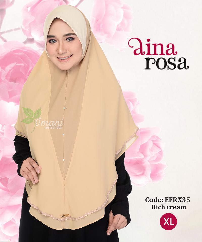 EFRX35R - Tudung Aina Rosa XL (REJECT)
