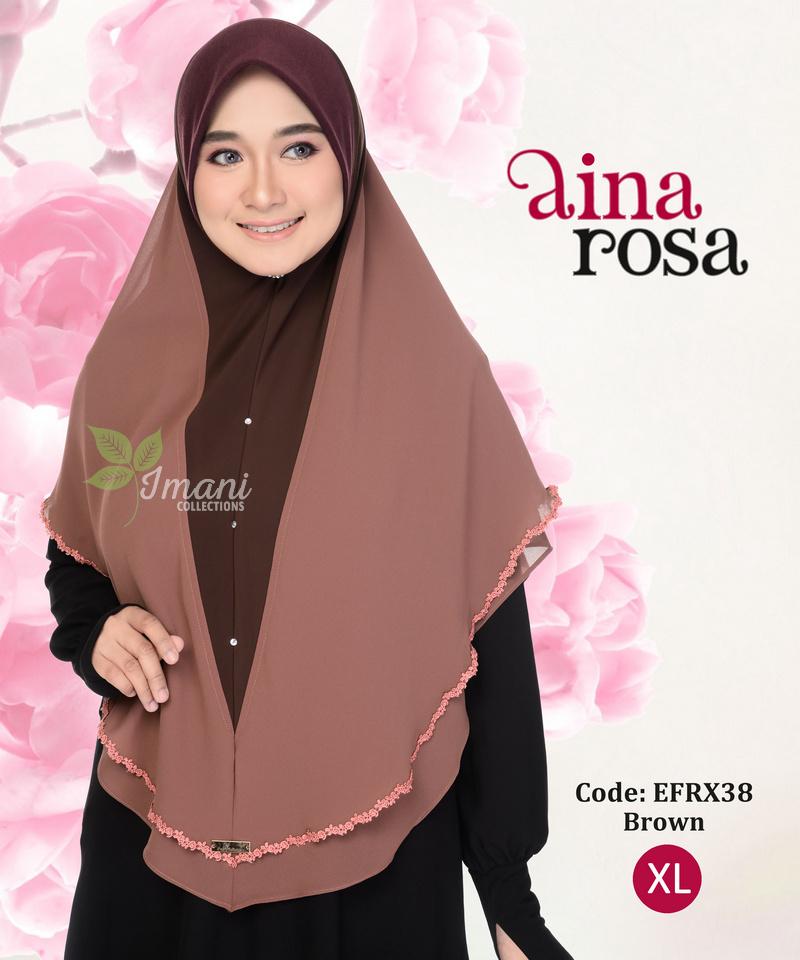 EFRX38 - Tudung Aina Rosa XL