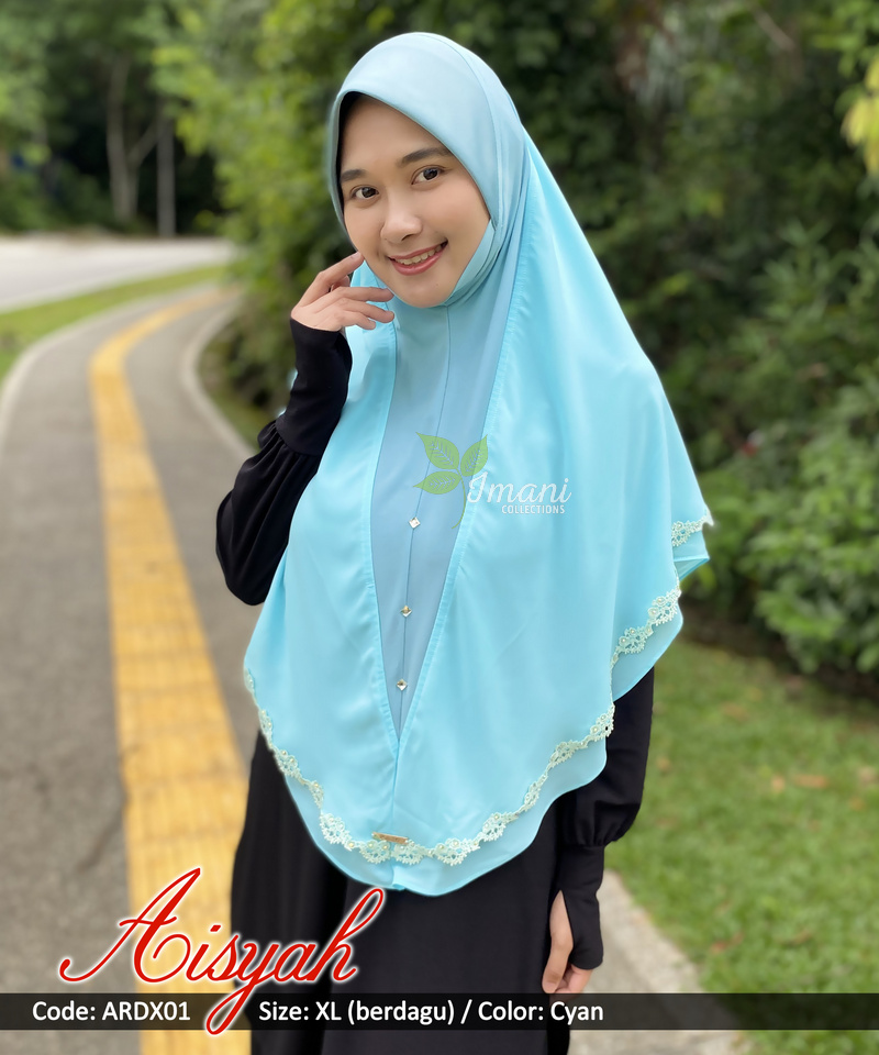ARDX01 - Tudung Aisyah XL (BERDAGU)