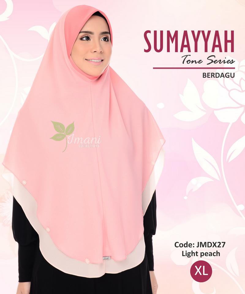 JMDX27 - Tudung Sumayyah Berdagu XL
