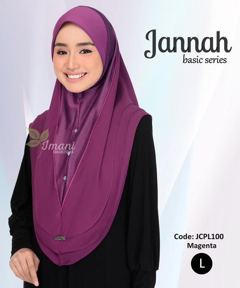 JCPL100R - Tudung Jannah Plain L (REJECT)