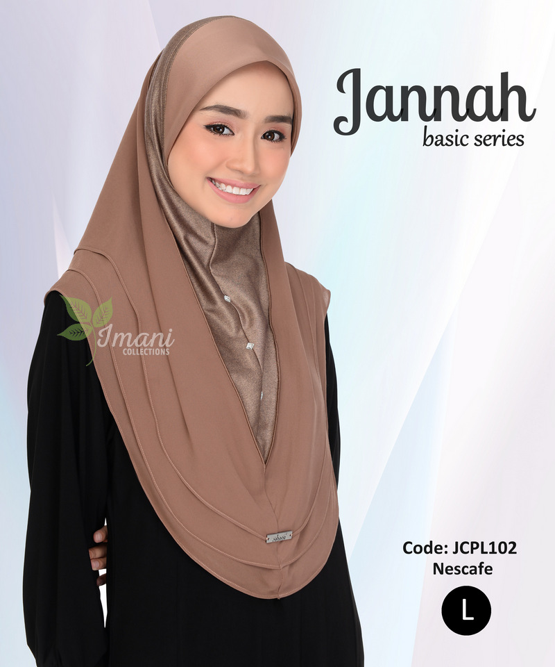 JCPL102R - Tudung Jannah Plain L (REJECT)