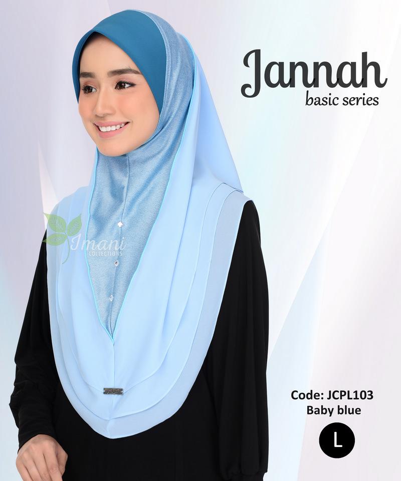 JCPL103R - Tudung Jannah Plain L (REJECT)