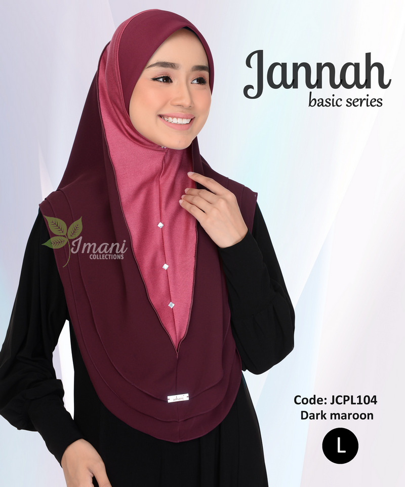 JCPL104R - Tudung Jannah Plain L (REJECT)
