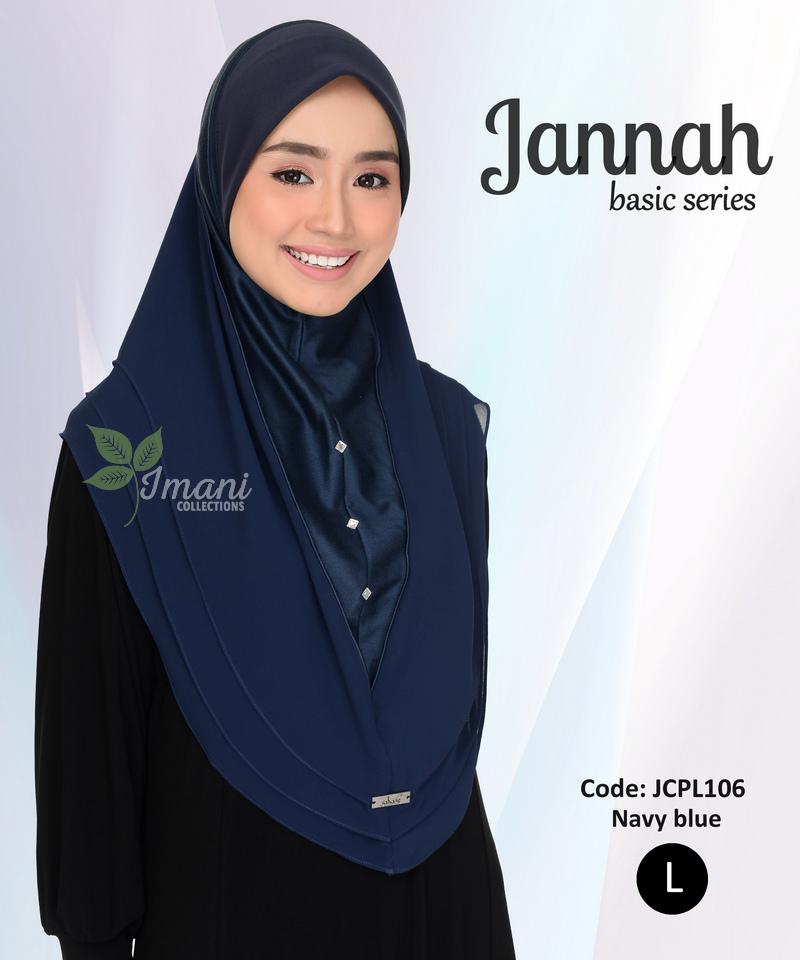 JCPL106R - Tudung Jannah Plain L (REJECT)