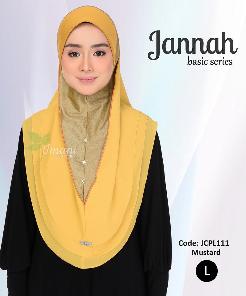 JCPL111R - Tudung Jannah Plain L (REJECT)