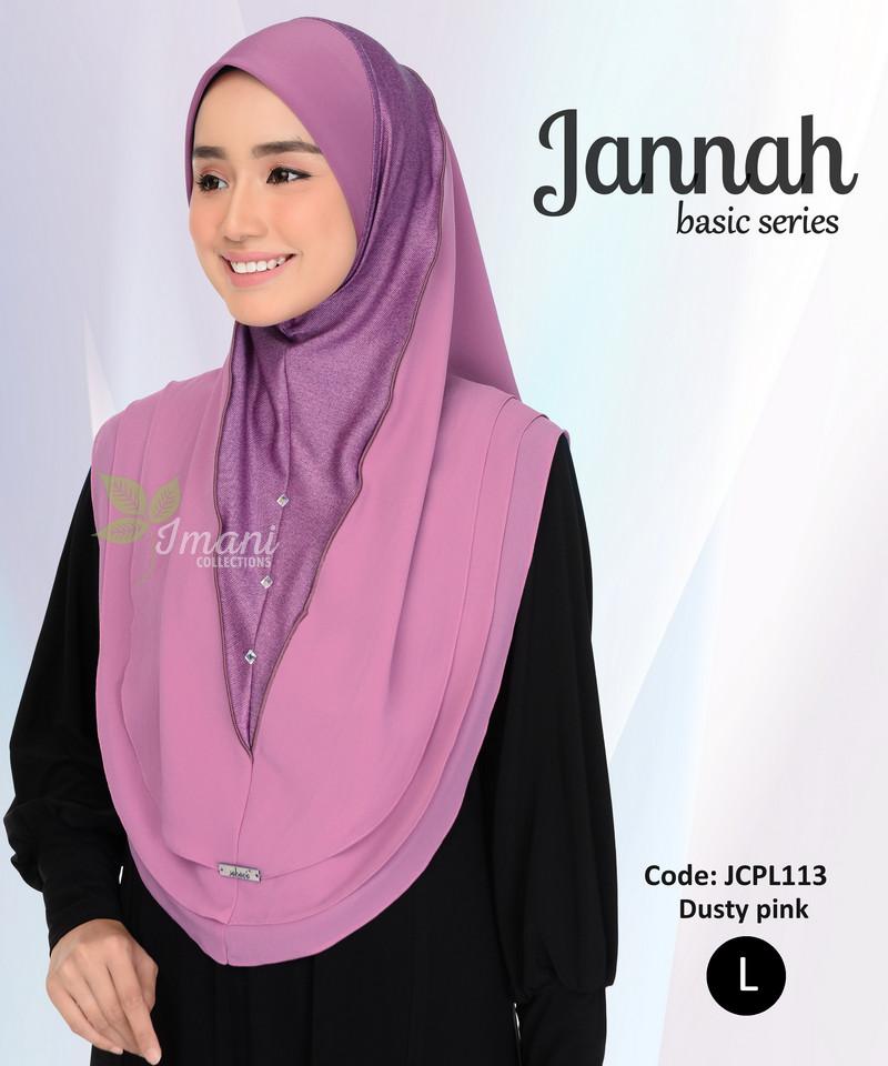JCPL113R - Tudung Jannah Plain L (REJECT)