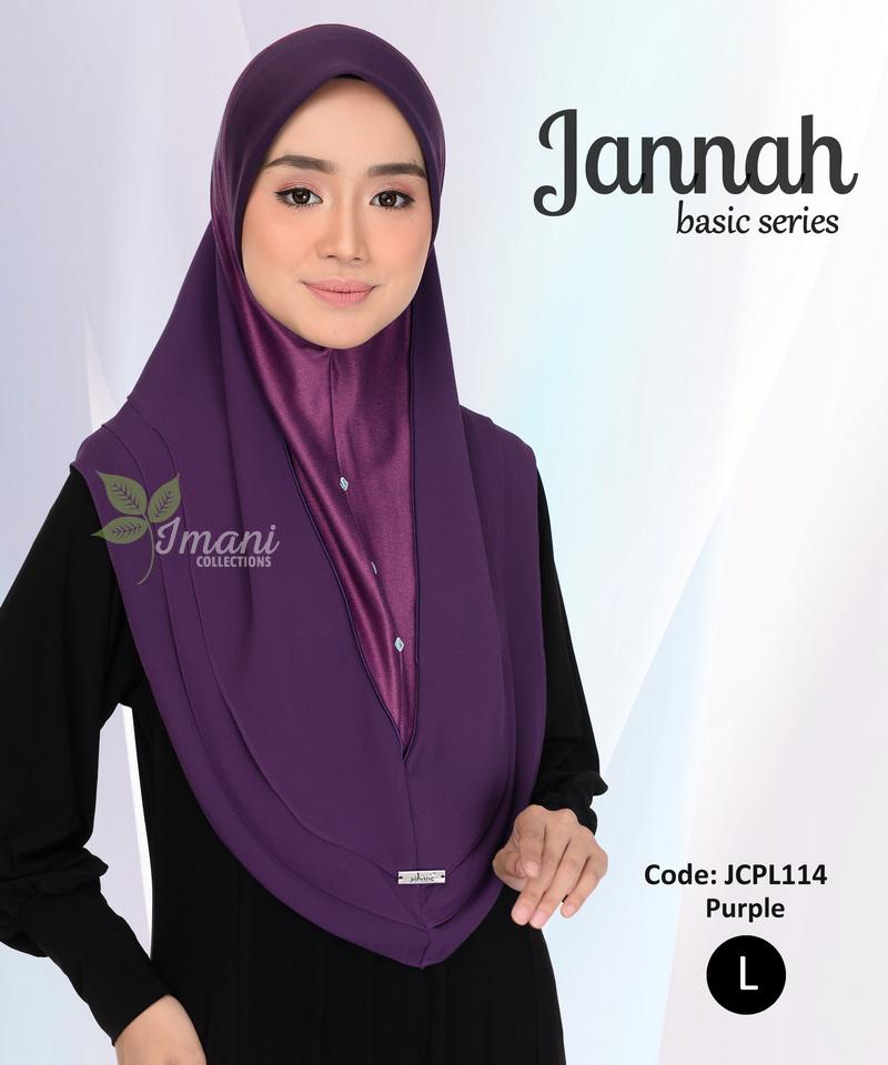 JCPL114 - Tudung Jannah Plain L