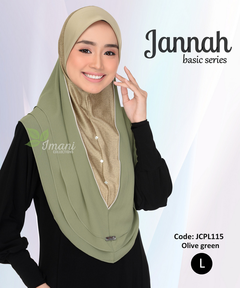 JCPL115R - Tudung Jannah Plain L (REJECT)