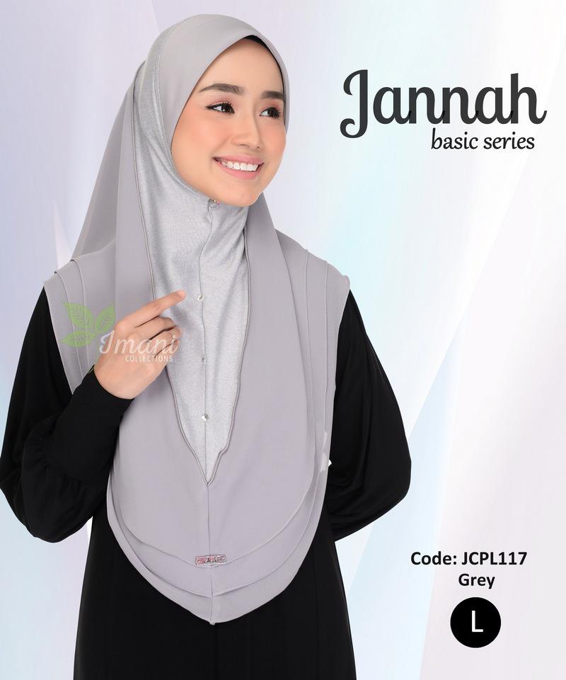 JCPL117R - Tudung Jannah Plain L (REJECT)