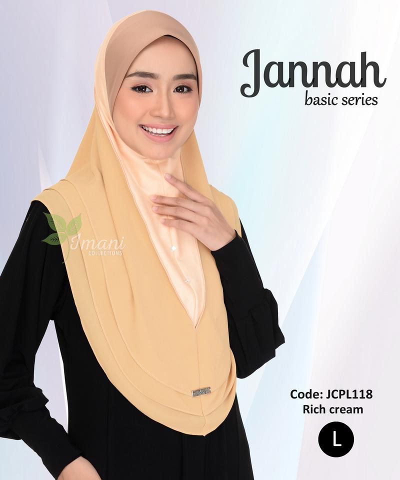 JCPL118R - Tudung Jannah Plain L (REJECT)