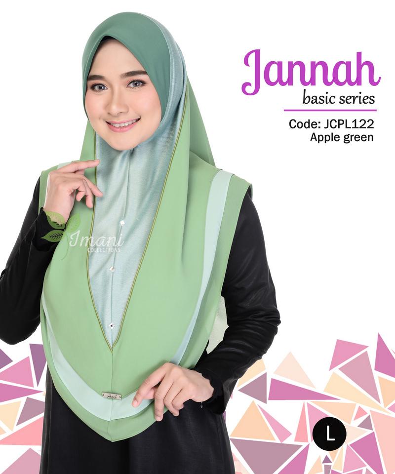 JCPL122R - Tudung Jannah Plain L (REJECT)