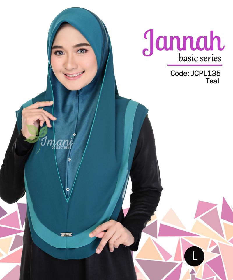 JCPL135 - Tudung Jannah Plain L