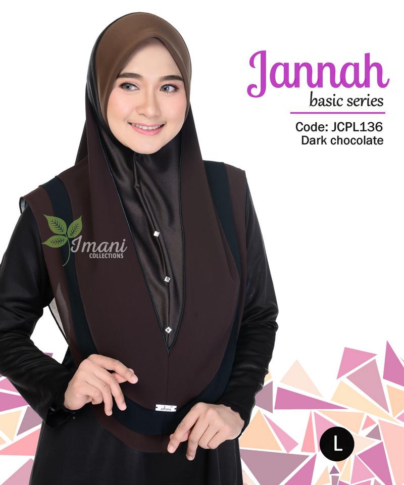 JCPL136R - Tudung Jannah Plain L (REJECT)