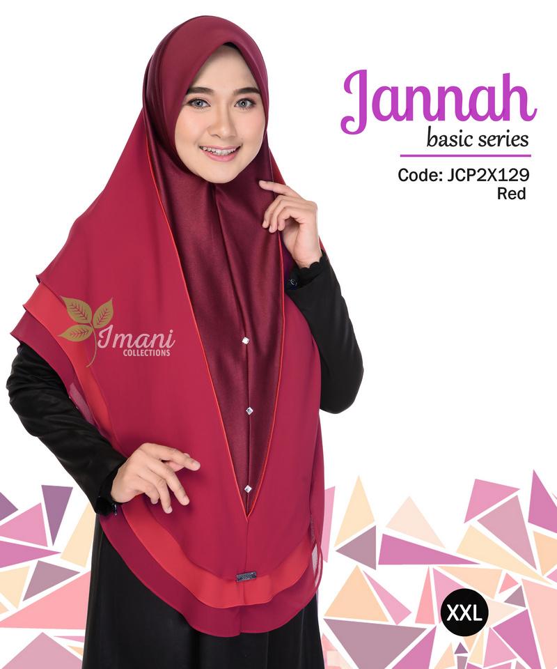 JCP2X129 - Tudung Jannah Plain XXL