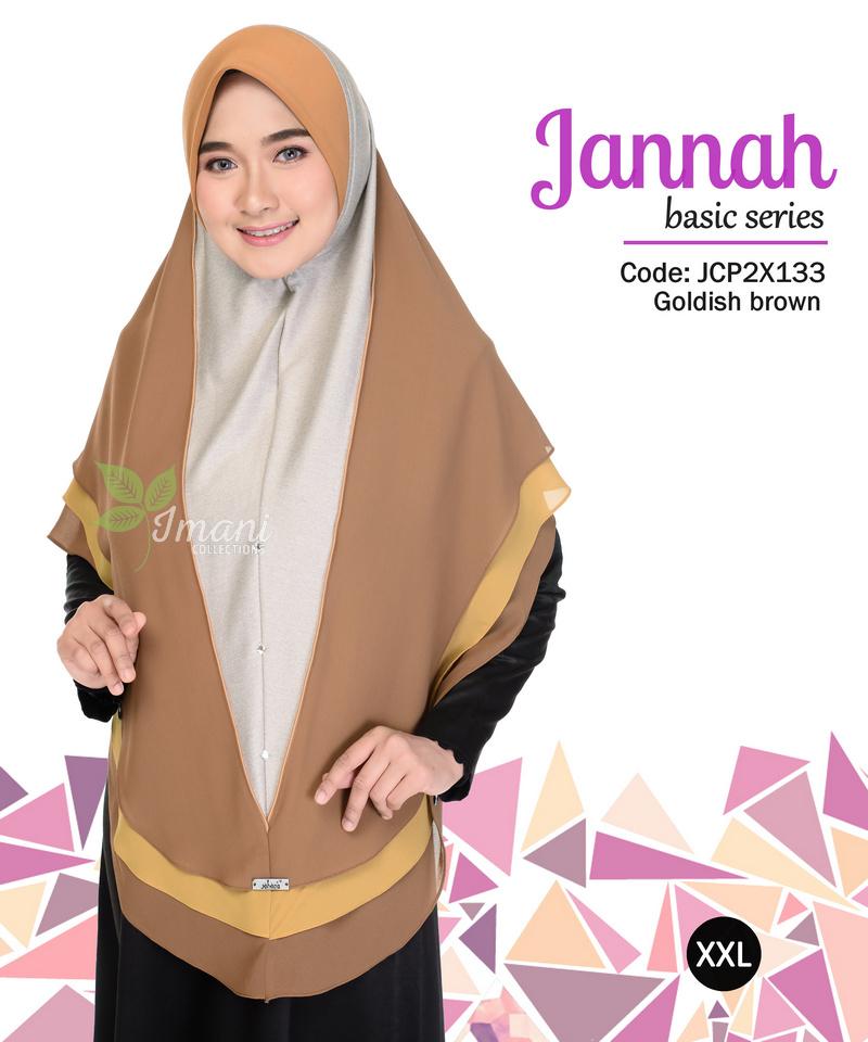 JCP2X133 - Tudung Jannah Plain XXL