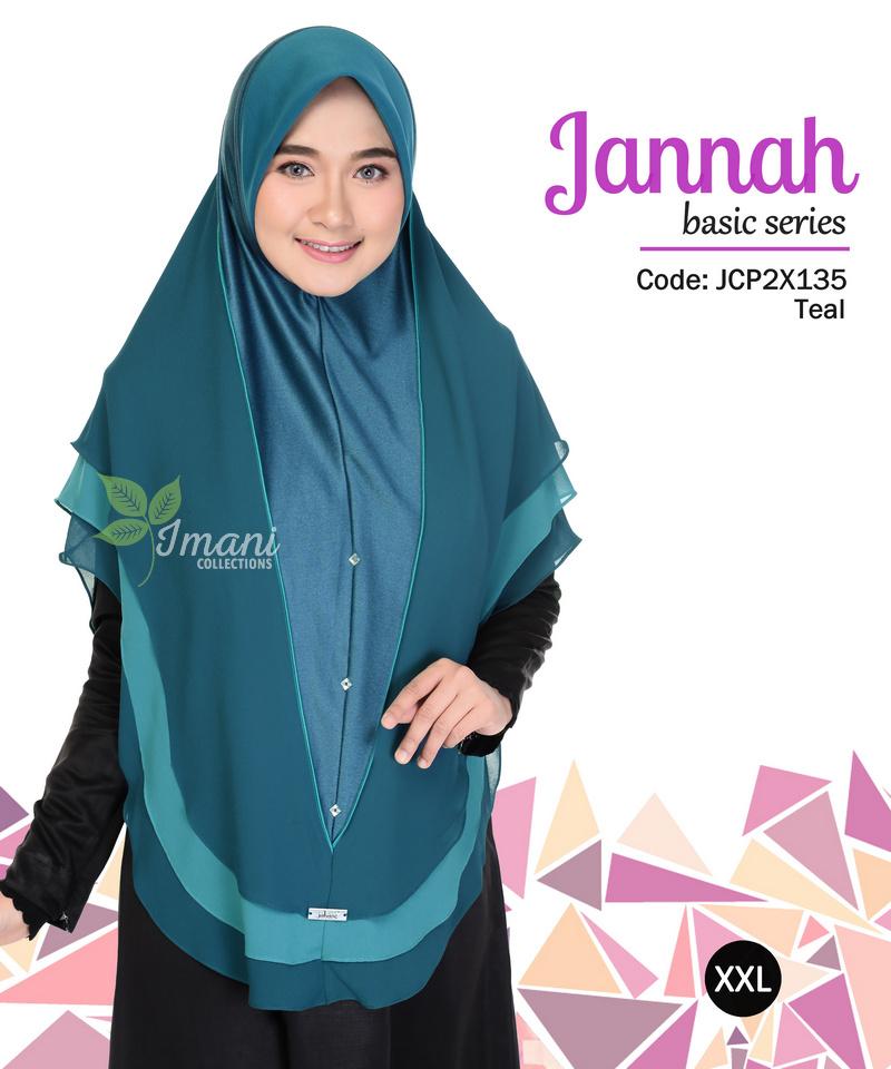 JCP2X135 - Tudung Jannah Plain XXL
