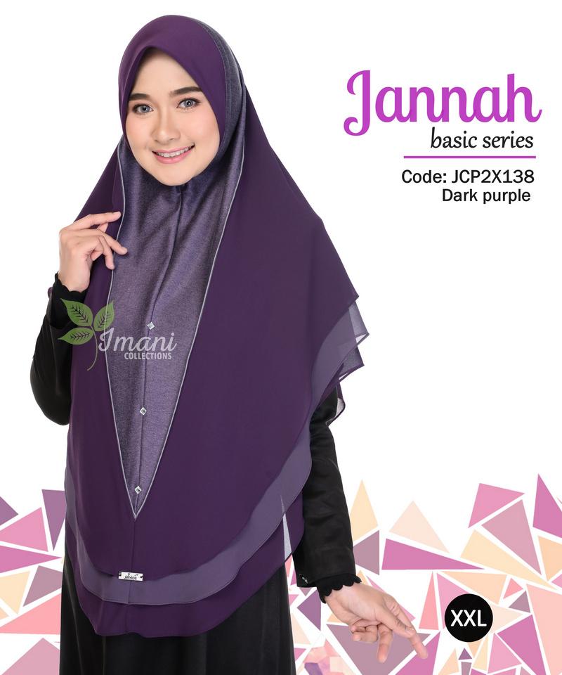 JCP2X138 - Tudung Jannah Plain XXL