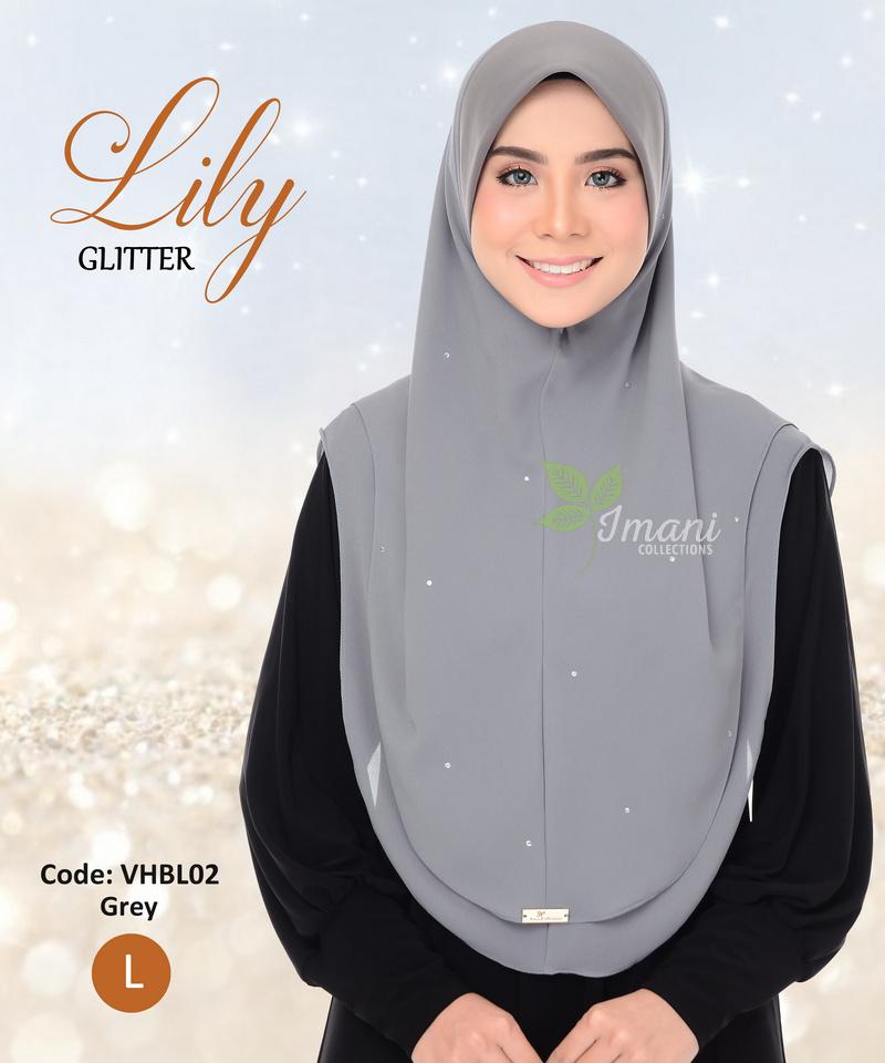 VHBL02R - Tudung Lily Glitter L (REJECT)
