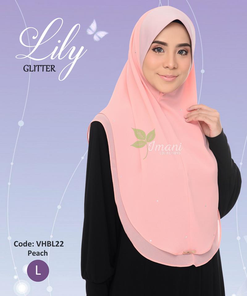 VHBL22 - Tudung Lily Glitter L