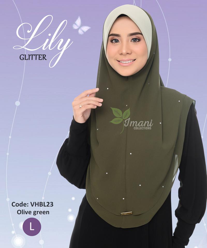 VHBL23 - Tudung Lily Glitter L