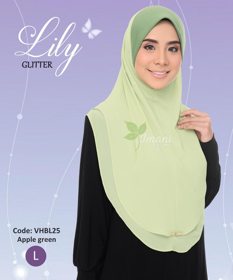 VHBL25R - Tudung Lily Glitter L (REJECT)