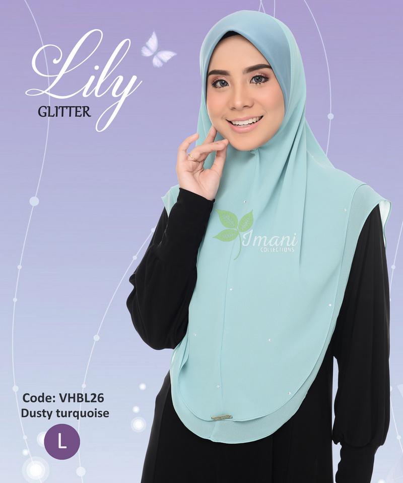 VHBL26 - Tudung Lily Glitter L