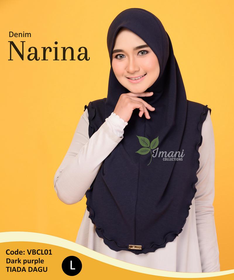 VBCL01 - Tudung Denim Narina L