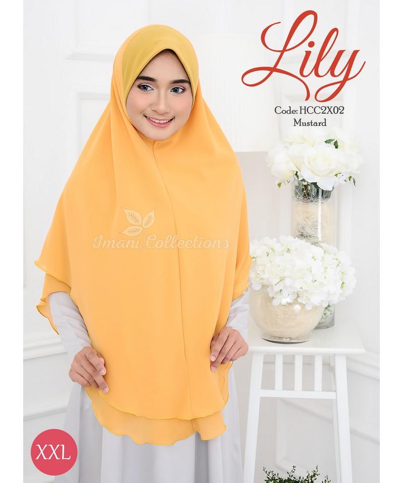 HCC2X02 - Tudung Chiffon Lily XXL